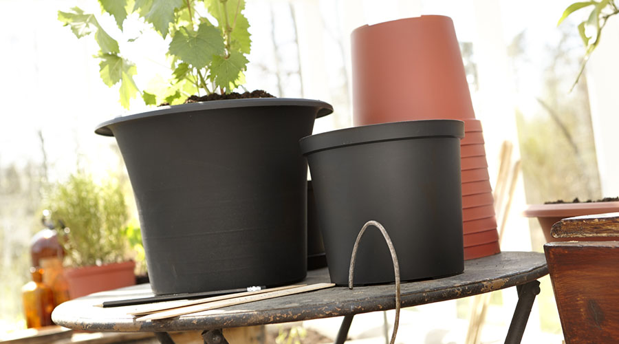 Flower pots, saucers and balcony boxes
